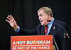 Andy Burnham Labour Leadership campaign rally at St Pancras Parish Church, Euston Rd, London, Great Britain <br /> <br /> 24th August 2015<br /> <br /> Introduced by Lord John Prescott <br /> <br /> Member of Parliament for Leigh since 2001 and the Shadow Secretary of State for Health since 2011<br /> <br /> Photograph by Elliott Franks <br /> <br /> Image licensed to Elliott Franks Photography Services