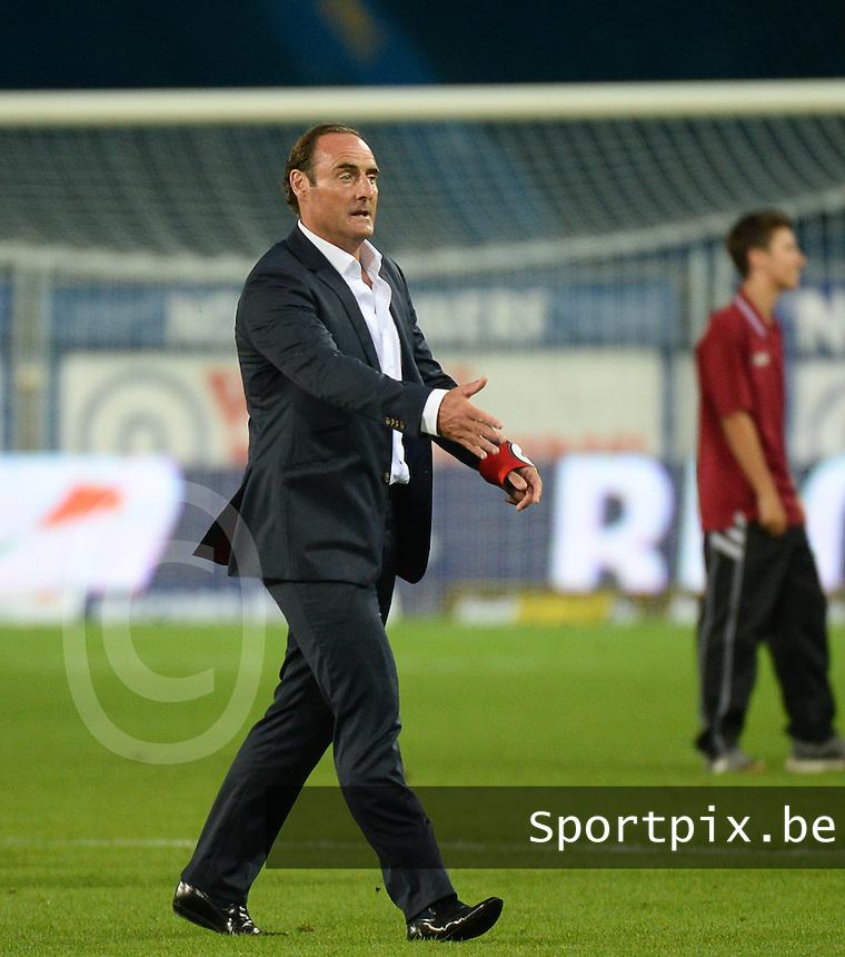 KV Kortrijk  : Yves Vanderhaeghe <br /> foto VDB / BART VANDENBROUCKE