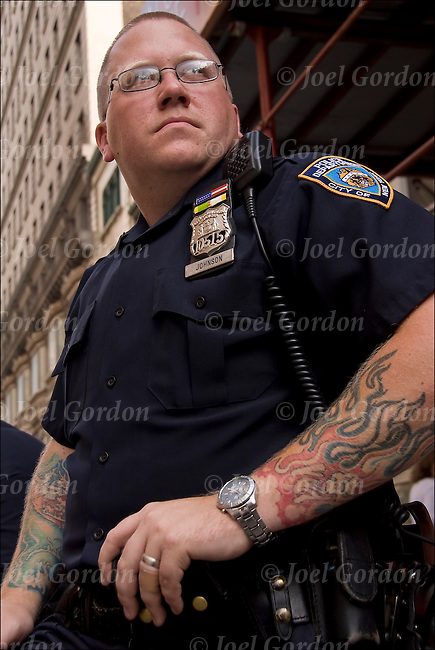 Cover up his tattoos his assignment that day was to cover crowd
