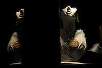 La Gioielleria di Cesare Cavallo, l'orafo creatore del rosone d'argento donato al Papa..Dopo il terremoto  del 2009 alcuni negozi e attività commerciali riaprono a L'Aquila..After the earthquake of 2009, some shops and businesses reopen in L'Aquila.