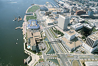 1983 July ..Redevelopment.Downtown South (R-9)..LOOKING WEST ALONG WATERSIDE DRIVE.OMNI HOTEL...NEG#.NRHA#..