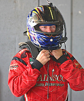 Jon Fogarty prepares for practice for the Miami 250 Grand-Am Rolex Series race at Homestead-Miami Speedway in Homestead, FL , Otober 9, 2009.  (Photo by Briain Cleary/www.bcpix.com)