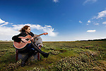 Singer-songwriter Briana Corrigan on Bull Island, 16/5/2009