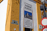 Notice on Roman Catholic church in San Pedro de Alcantara, Malaga Province, Spain. Translated it means: Your Church needs you - Help your parish in the renovation of our church's roof. 201302241160..Copyright Image from Victor Patterson, 54 Dorchester Park, Belfast, UK, BT9 6RJ..Tel: +44 28 9066 1296.Mob: +44 7802 353836.Voicemail +44 20 8816 7153.Skype: victorpattersonbelfast.Email: victorpatterson@me.com.Email: victorpatterson@ireland.com (back-up)..IMPORTANT: If you wish to use this image or any other of my images please go to www.victorpatterson.com and click on the Terms & Conditions. Then contact me by email or phone with the reference number(s) of the image(s) concerned.