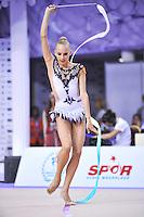 September 25, 2014 - Izmir, Turkey -  YANA KUDRYAVTSEVA of Russia performs at 2014 World Championships.