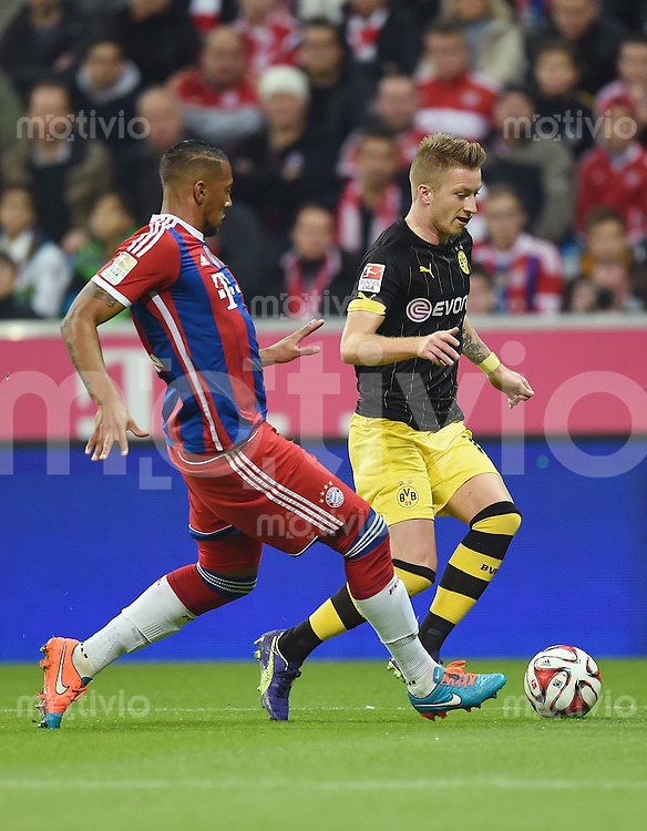 Fussball  1. Bundesliga  Saison 2014/2015   10. SPIELTAG FC Bayern Muenchen - Borussia Dortmund   01.11.2014 Jerome Boateng (FC Bayern Muenchen) gegen Marco Reus (Borussia Dortmund)