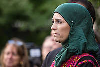 NEW YORK CITY, UNITED STATES SEPTEMBER 16, 2016: Global Teacher Prize Laureate Hanan Al Hroub during the Peace Bell Ceremony to commemorate the International Day of Peace at the United Nations in New York. Photo by VIEWpress/Maite H. Mateo
