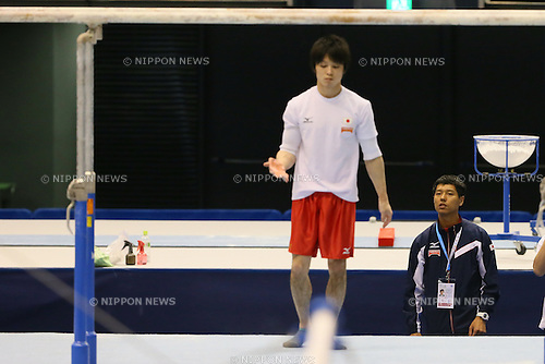 Hisashi Mizutori (JPN), <br /> APRIL 3, 2014 - Artistic Gymnastics : <br /> FIG ART World Cup 2014 Tokyo <br /> official practice session <br /> at Tokyo Metropolitan Gymnasium, Tokyo, Japan. <br /> (Photo by YUTAKA/AFLO SPORT)