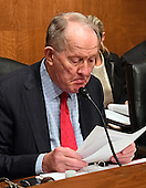 United States Senator Lamar Alexander (Republican of Tennessee), Chairman, US Senate Committee on Health, Education, Labor and Pensions, looks over his notes prior to convening the hearing where US Representative Dr. Tom Price (Republican of Georgia) will testify on his nomination to serve as US Secretary of Health and Human Services on Capitol Hill in Washington, DC on Wednesday, January 18, 2017.<br /> Credit: Ron Sachs / CNP