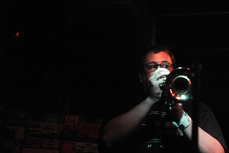 SEPTEMBER 8, 2012: No BS Brass Band at Pour House. Day three, Hopscotch 2012. (photo by Kim Walker, kimwalkerphoto.com)