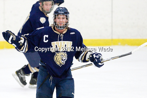 Jeremiah Ketts (Johnson & Wales - 18) - The Curry College Colonels defeated the Johnson & Wales University Wildcats 5-4 on Curry's senior night on Saturday, February 18, 2012, at Max Ulin Rink in Milton, Massachusetts.