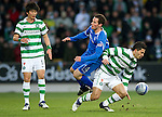 St Johnstone v Celtic...18.12.11   SPL .Beram Kayal and Kevin Moon.Picture by Graeme Hart..Copyright Perthshire Picture Agency.Tel: 01738 623350  Mobile: 07990 594431