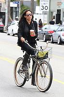 Rosario Dawson rides her bicycle - Los Angeles - EXCLUSIVE PHOTOS