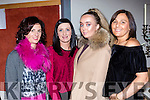 Denise Fenton, Marguerite O'Connor, Aoife Sheehy and Breda Fleming  at the Gneeveguilla NS fashion show in the Killarney Oaks on Friday night