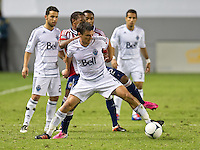 CARSON, CA - July 7, 2012: Vancouver Whitecaps midfielder Alain Rochat (4) during the Chivas USA vs Vancouver Whitecaps FC match at the Home Depot Center in Carson, California. Final score Vancouver Whitecaps FC 0, Chivas USA 0.