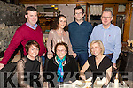 Betty Stack, Listowel, who celebrated her birthday with family at Bella Bia restaurant, Tralee, on Saturday night last, front l-r: Collette, Betty and Eleanor Stack. Back l-r: Seamus Maria, Gary and Robert Stack.