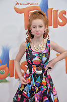 LOS ANGELES, CA. October 23, 2016: Actress Francesca Capaldi at the Los Angeles premiere of &quot;Trolls&quot; at the Regency Village Theatre, Westwood.<br /> Picture: Paul Smith/Featureflash/SilverHub 0208 004 5359/ 07711 972644 Editors@silverhubmedia.com