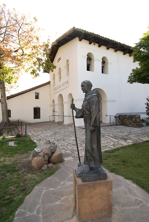 California, San Luis Obispo County: The San Luis Obispo Mission, Mission San Luis Obispo de Tolosa, the 5th in the 21 mission chain founded by Junipero Serra.  At the Mission you can see the Interior and the original Bells..Photo caluis157-71136..Photo copyright Lee Foster, www.fostertravel.com, 510-549-2202, lee@fostertravel.com