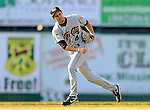 2 July 2011: Tri-City ValleyCats infielder John Hinson in action against the Vermont Lake Monsters at Centennial Field in Burlington, Vermont. The Lake Monsters rallied from a 4-2 deficit to defeat the ValletCats 7-4 in NY Penn League action. Mandatory Credit: Ed Wolfstein Photo