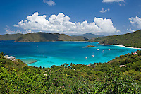 View of Cinnamon Bay <br /> and the North Shore<br /> Virgin Islands National Park<br /> St John, US Virgin Islands
