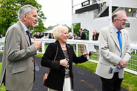 Joy from the connections of Mam'selle in the winners enclosure during Afternoon Racing at Salisbury Racecourse on 18th May 2017