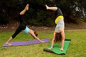 Stock photo of outdoor yoga