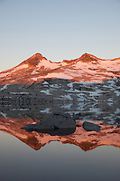 """Lake Aloha Reflection 2"" - These mountains and their reflection were photographed at sunrise at Lake Aloha, in the Tahoe Desolation Wilderness."
