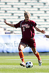 09 November 2008: Virginia Tech's Brittany Michaels. The University of North Carolina Tarheels defeated the Virginia Tech University Hokies 3-0 at WakeMed Stadium at WakeMed Soccer Park in Cary, NC in the women's ACC tournament championship game.