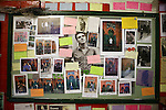 Morrissey collage in the Smiths Room, at the Salford's Lads Club, Salford, Manchester, April 2007