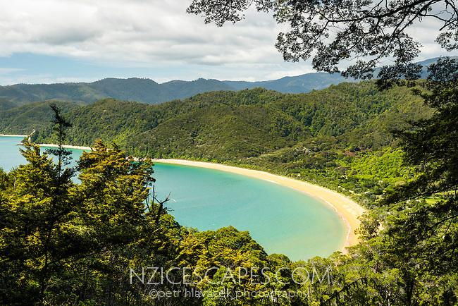 Totaranui beach on Abel Tasman Coastal Track, Abel Tasman National Park, Nelson Region, South Island, New Zealand