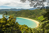 Totaranui beach on Abel Tasman Coastal Track, Abel Tasman National Park, Nelson Region, South Island, New Zealand