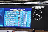 SCHAATSEN: BERLIJN: Sportforum, 08-12-2013, Essent ISU World Cup, 5000m Men Division A, result, ©foto Martin de Jong