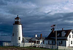 Pemaquid Light and lighthouse museum at Pemaquid Point, ME