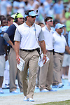 19 September 2015: UNC head coach Larry Fedora. The University of North Carolina Tar Heels hosted the University of Illinois Fighting Illini at Kenan Memorial Stadium in Chapel Hill, North Carolina in a 2015 NCAA Division I College Football game. UNC won the game 48-14.