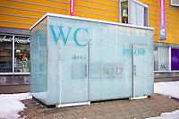 Futuristic design Public Convenience toilet in Tromso, Norway