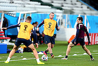 Wayne Rooney of England during training ahead of tomorrow's Group D match vs Uruguay