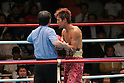 Noriyuki Komatsu (JPN), JUNE 27, 2006 - Boxing : Noriyuki Komatsu of Japan stands up after being knocked down in the sixth round during the OPBF and Japanese flyweight titles bout at Korakuen Hall in Tokyo, Japan. (Photo by Hiroaki Yamaguchi/AFLO)