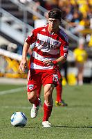 28 AUGUST 2010:  FC Dallas' Zach Loyd (19) during MLS soccer game between FC Dallas vs Columbus Crew at Crew Stadium in Columbus, Ohio on August 28, 2010.
