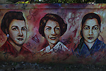 Mural of Patria, Minerva and María Teresa Mirabal. The Mirabal Sisters, political dissidents who opposed the dictatorship of Rafael Trujillo, were murdered on November 25, 1960. Their murder is seen as a turning point that led to Trujillo's eventual overthrow in 1961. In their honor, the UN has designated November 25th as the International Day for the Elimination of Violence against Women. Cotuí, Sánchez Ramírez, Dominican Republic, 2012.