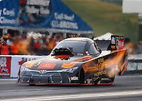 Jun 19, 2015; Bristol, TN, USA; NHRA funny car driver Alexis DeJoria during qualifying for the Thunder Valley Nationals at Bristol Dragway. Mandatory Credit: Mark J. Rebilas-