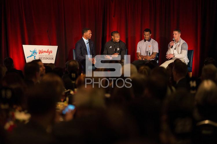 NEW YORK, NY - DECEMBER 11, 2015 - Stanford Running Back Christian McCaffrey, Heisman trophy candidate, 2015.