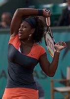 Serena Williams (USA) (2) against Klara Zakopalova (CZE) in the first round of the Women's Singles. Williams beat Zakopalova 6-3 6-7 6-4..Tennis - French Open - Day 3 - Tues 26th May 2009 - Roland Garros - Paris - France..Frey Images, Barry House, 20-22 Worple Road, London, SW19 4DH.Tel - +44 20 8947 0100.Cell - +44 7843 383 012