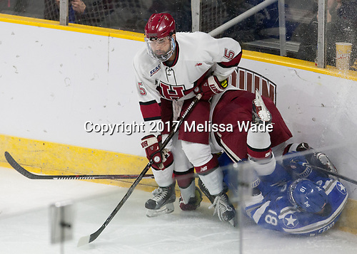 Clay Anderson (Harvard - 5), Evan Feno (AFA - 18) - The Harvard University Crimson defeated the Air Force Academy Falcons 3-2 in the NCAA East Regional final on Saturday, March 25, 2017, at the Dunkin' Donuts Center in Providence, Rhode Island.
