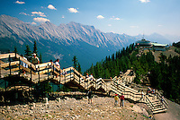 Banff National Park, Canadian Rockies, AB, Alberta, Canada - Sulphur Mountain Viewpoint and Lookout, Summer