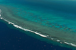 Aerial - the Great Sea Reef from Nadogo, Northern Division.
