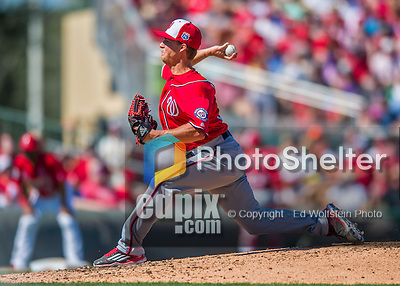 6 March 2016: Washington Nationals pitcher Trevor Gott on the mound during a Spring Training pre-season game against the St. Louis Cardinals at Roger Dean Stadium in Jupiter, Florida. The Nationals defeated the Cardinals 5-2 in Grapefruit League play. Mandatory Credit: Ed Wolfstein Photo *** RAW (NEF) Image File Available ***