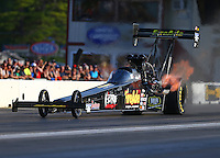 Jun 3, 2016; Epping , NH, USA; NHRA top fuel driver Leah Pritchett during qualifying for the New England Nationals at New England Dragway. Mandatory Credit: Mark J. Rebilas-USA TODAY Sports