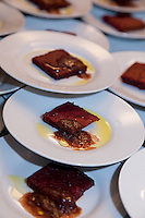 José Arato and Dolores Smith of Pimenton Fine Foods and The Olivar Corp. .Luscious Beet Root Chocolate Brownies Drizzled with Silky-smooth, Premium Spanish Olive Oil at FoodShare Toronto's Recipe for Change, February 28,  2013