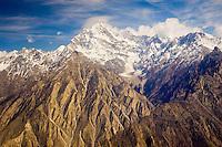 Snow-covered peaks of Karokoram Mountains, Skardu Valley, North Pakistan
