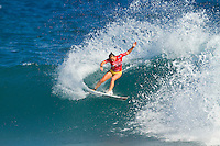 Carrisa Moore (HAW).  SOMEWHERE, Porta Del Sol/Puerto Rico (Monday, November 1, 2010) - Stephanie Gilmore (AUS), 22, has claimed her fourth, consecutive ASP Women's World Title, making history at the Rip Curl Women's Pro Search Puerto Rico.. .With her Quarterfinal win over Melanie Bartels (HAW), 28, Gilmore amassed enough points to knock sole remaining contender, Sally Fitzgibbons (AUS), 19, out of the running for the 2010 ASP Women's World Title Race..Newly-crowned four-time ASP Women's World Champion Stephanie Gilmore (AUS), 22, has taken out her 16th elite tour event today, defeating rookie sensation Carissa Moore (HAW), 18, in two-to-three foot (1 metre) waves in Porta Del Sol to claim the Rip Curl Women's Search Pro Puerto Rico. .Photo: joliphotos.com